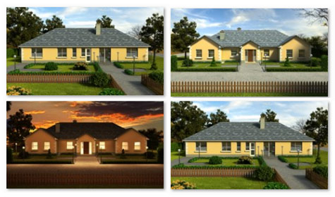 MF Kelly 3D House Design - Bungalows