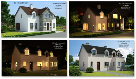 MF Kelly 3D House Design - Two Storey Houses